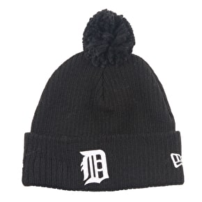 New Era Lightweight Felt Bobble Beanie - Detroit Tigers