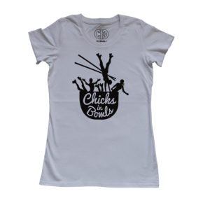 Chicks in Bowls Classic Logo Tee- White
