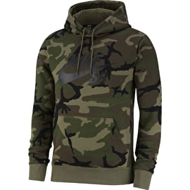 Nike SB Icon Camo Hoodie - Medium Olive/Medium Olive/Black