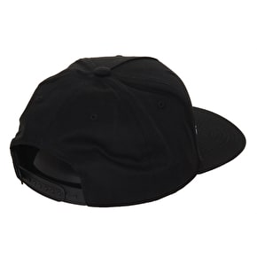 Diamond High N Rolling Snapback Cap - Black