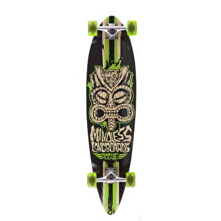 Mindless Tribal Rogue II Complete Longboard - Black/Green 38