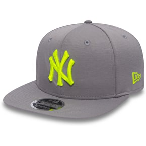 New Era 9FIFTY NY Jersey Cap - Grey/Yellow
