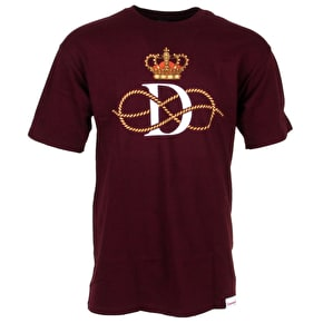 Diamond Crown T-Shirt - Burgundy