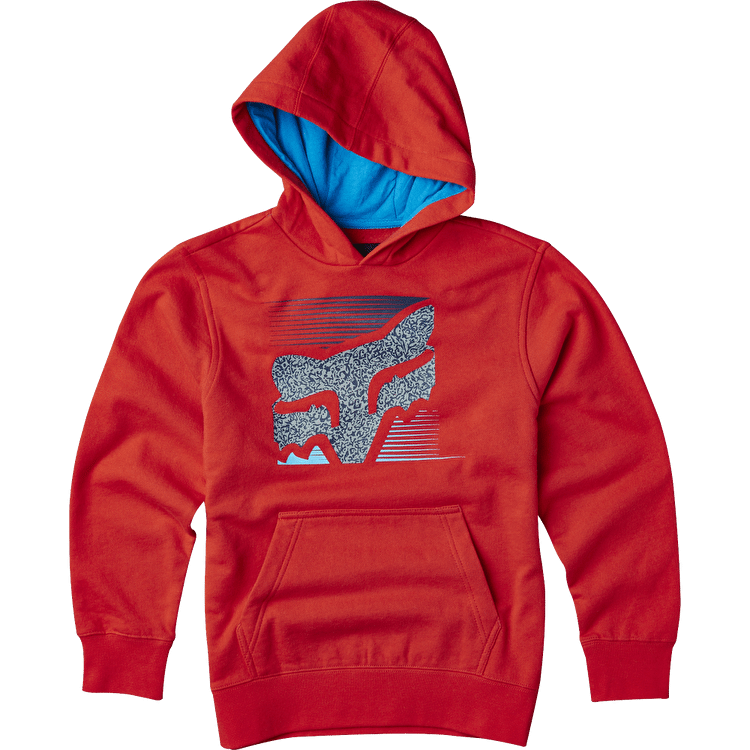 Fox Home Bound Youth PO Fleece- Flame Red