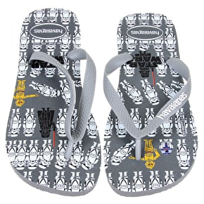 Havaianas Star Wars Kids Flip Flops - Grey