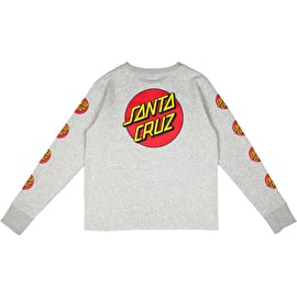 Santa Cruz Classic Dot Womens Crew Neck - Heather Grey