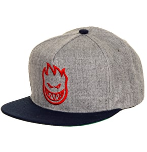 Spitfire Bighead Snapback Cap - Heather/Navy