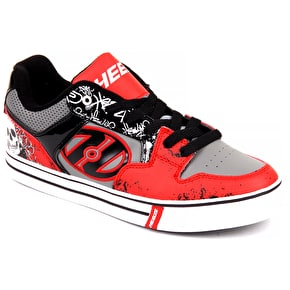 Heelys Motion Plus - Red/Black/Grey/Skulls