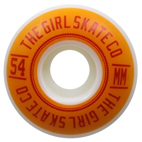 Girl University Skateboard Wheels - 54mm 98a