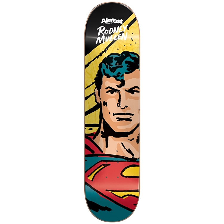 Almost Sketchy Superman R7 Skateboard Deck - Mullen 8""