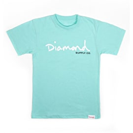 Diamond Supply Co Core Script T Shirt - Diamond Blue