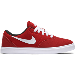 Nike SB Check Kids Shoes - University Red/White