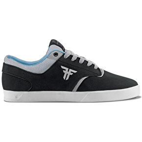 Fallen The Vibe Skate Shoes - Flat Black/Newsprint Grey