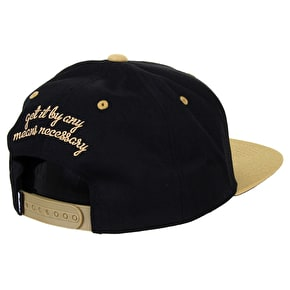 DGK By Any Means Cap - Black/Gold