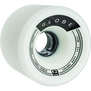 Globe Trooper Longboard Wheels - White/Black 70mm