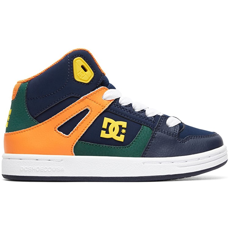 DC Pure High-Top Kids Skate Shoes - Multi