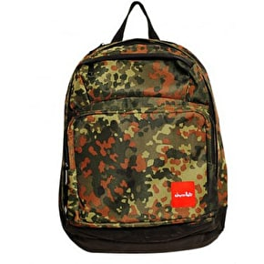 Chocolate Simple Canvas Backpack Camo