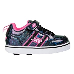 Heelys Bolt Plus Light Up - Black Hologram/Pink