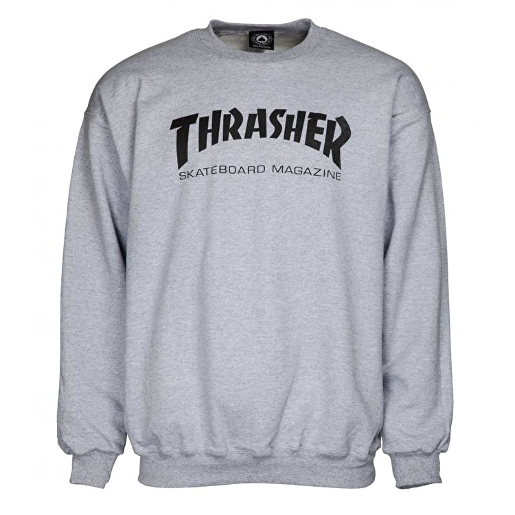 Thrasher Skate Mag Logo Crew Neck - Grey