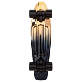 Penny Metallic Fade Complete Skateboard - Black/Gold - 22