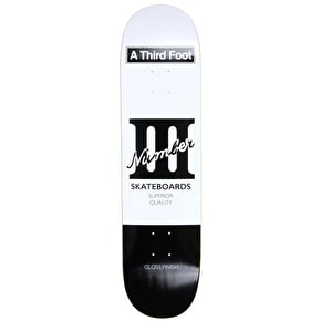 A Third Foot Playing Card Skateboard Deck - Black - 8.25