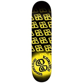 Krooked Diffused II Skateboard Deck - Black/Yellow 8.25