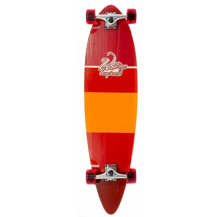 Voltage Stubby Pintail Complete Longboard - Red 38""