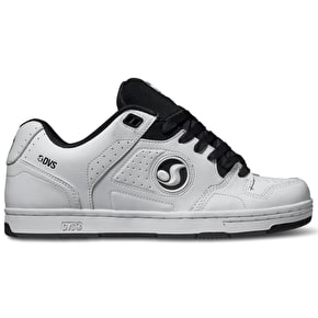 DVS Discord Shoes - White/Black Leather