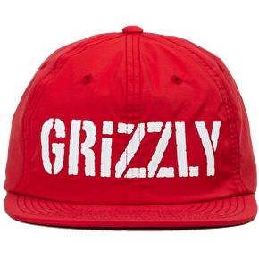 Grizzly Stamp Logo Nylon Snapback Cap - Red