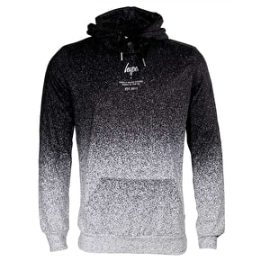 Hype Speckle Fade Hoodie - Black/White