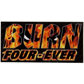 Spitfire Burn Four-Ever Sticker