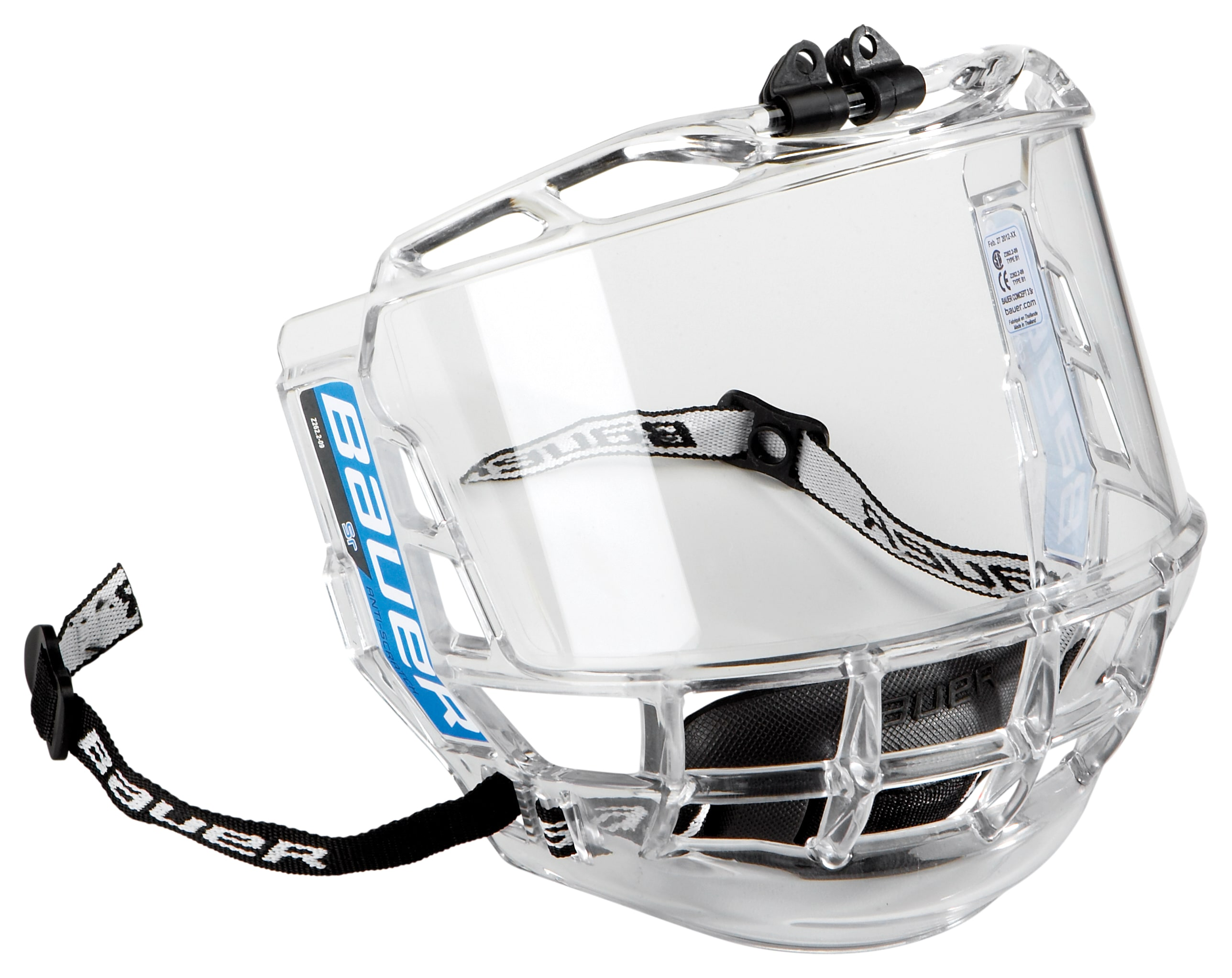Image of Bauer Concept 3 Hockey Helmet Visor - Senior
