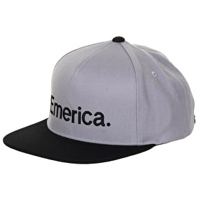 Emerica Pure Snapback Cap - Grey/Black