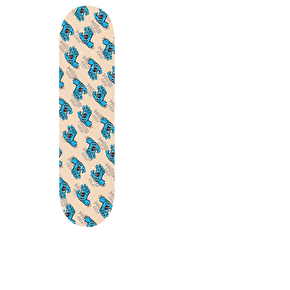 MOB Screaming Hand Pattern Skateboard Grip Tape - Clear/Blue 9