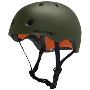 B-Stock Protec Street Lite Helmet - Satin Army Green - Medium (Box Damage)