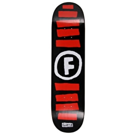 Foundation Doodle Stripe Skateboard Deck - Black 8