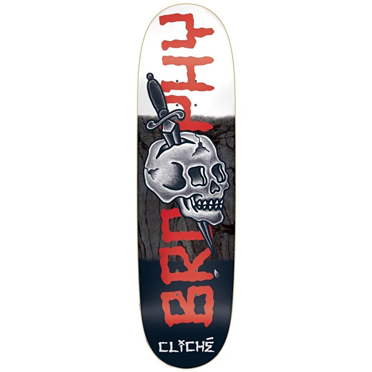 Cliche Skateboard Deck - Brophy By Dressen R7 8.625""