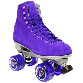 Sure-Grip Boardwalk Suede Quad Roller Skates - Jasmine Purple