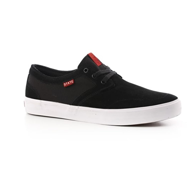 State Bishop Skate Shoes - Black/White