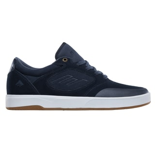 Emerica Dissent Skate Shoes - Navy/White