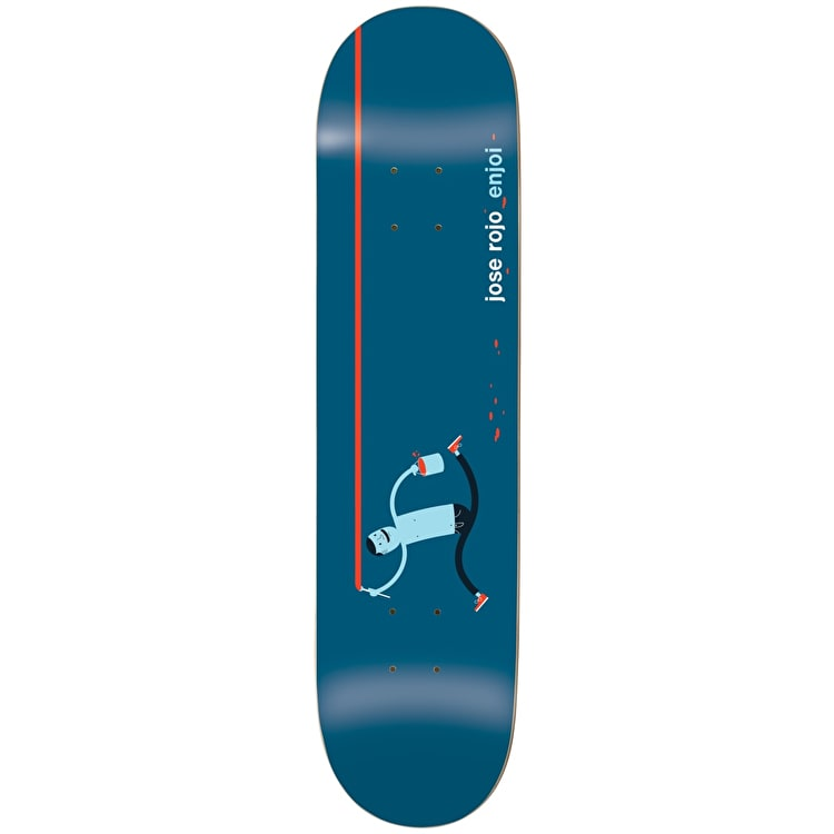 Enjoi x Jim Houser Skateboard Deck - R7 Rojo 8""