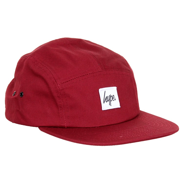 Hype Script 5 Panel Cap - Burgundy