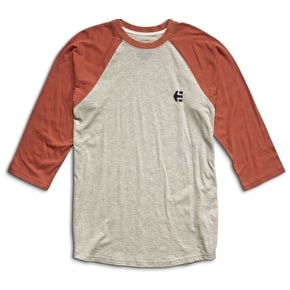Etnies Baseline Raglan T-Shirt - White/Orange