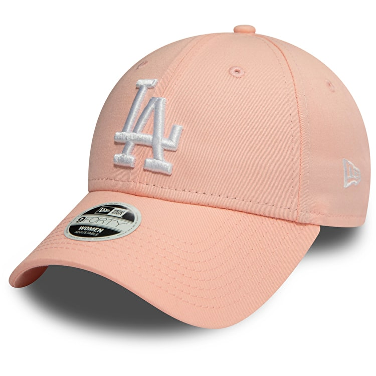 New Era Los Angeles Dodgers MLB 9FORTY League Essential Womens Cap - Pink/White
