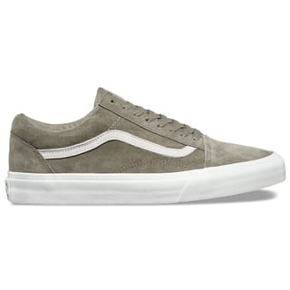 Vans Old Skool Skate Shoes - (Pig Suede) Fallen Rock/Blanc De Blanc