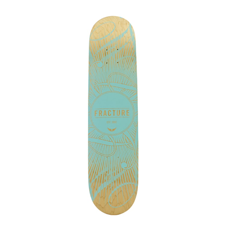 Fracture Skateboard Deck - DB15 Teal 7.5""