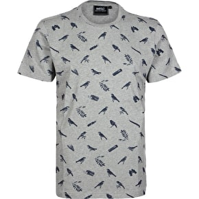 WeSC Birds And Ammo T-Shirt - Grey Melange