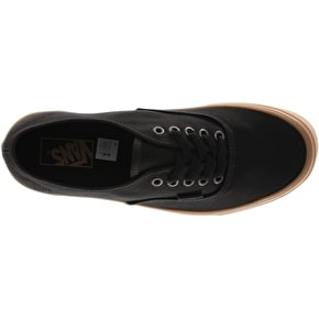 Vans Authentic Skate Shoes - (Light Gum) Black