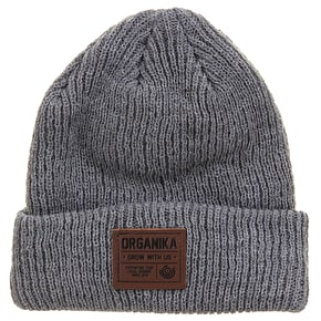 Organika Badge Beanie - Grey