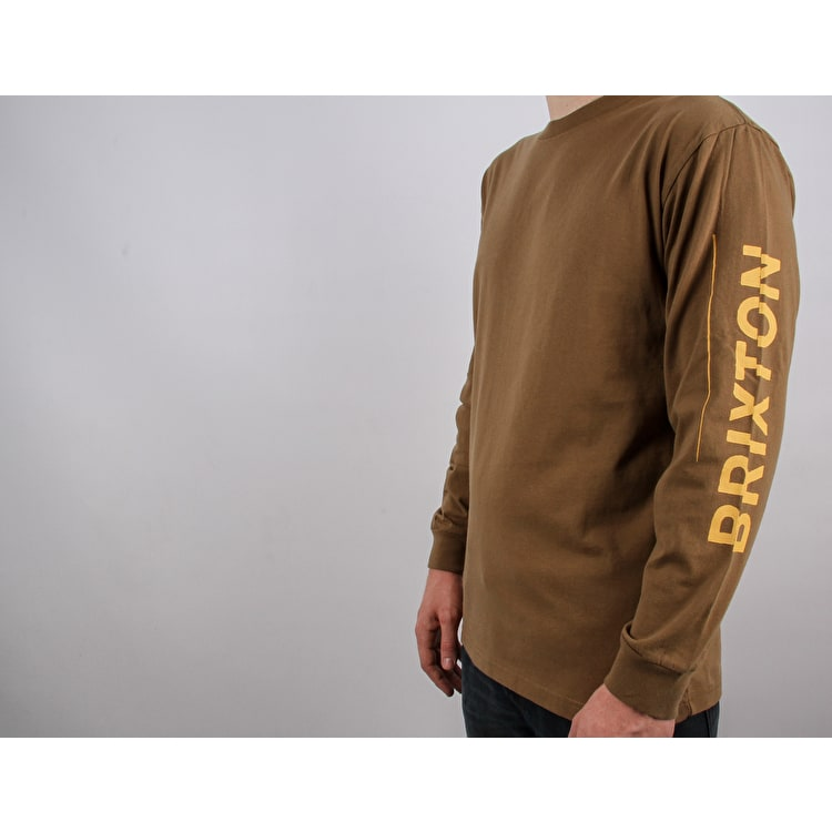 Brixton Twin Standard Long Sleeve T Shirt - Dusty Olive